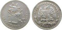 25 Centavos 1880 Mexiko Ag Go-S, Guanajuato, Randfehler, seltener ss  60,00 EUR