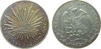8 Reales 1894 Mexiko Ag Mo-AM, Patina vz  45,00 EUR