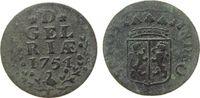 1 Duit 1754 Niederlande Ku Gelderland fast ss  10,00 EUR