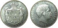 1000 Reis 1899 Portugal Ag Carlos I, winzige Randfehler fast vz  60,00 EUR