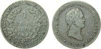 Polen 1 Zlotych 1830 ss Ag Alexander I von Rußland, FH 115,00 EUR  plus 11,00 EUR verzending