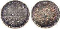 Japan 1000 Yen 1964 stgl Ag Olympische Spiele, hübsche Patina 30,00 EUR  plus 8,00 EUR verzending