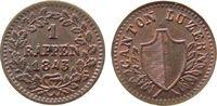 1 Rappen 1843 Schweiz Kantone Ku Luzern unz  56,50 EUR  zzgl. 6,00 EUR Versand