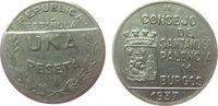 1 Peseta 1937 Spanien Ni Santander, KM2, Bürgerkrieg - Guerra Civil ss-... 60,00 EUR  zzgl. 6,00 EUR Versand