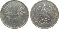 1 Peso 1902 Mexiko Ag Mo-AM, kleine Randfehler ss-vz  40,00 EUR  zzgl. 3,95 EUR Versand