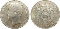 5 Francs 1855 Frankreich Ag Napoleon III,  tête nue, D (Lyon) schön  150,00 EUR  zzgl. 6,00 EUR Versand