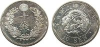 10 Sen 1885 Japan Ag Mutsuhito (1867-1912), minimale Handlingsspuren vz... 45,00 EUR  zzgl. 3,95 EUR Versand