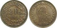 2 Franken 1921 Schweiz Ag HMZ 1202, winz. Randfehler, Patina unz  50,00 EUR  zzgl. 3,95 EUR Versand