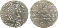 3 Groschen 1592 Polen Riga Ag Sigismund III (1587-1632), Riga ss+  50,00 EUR  zzgl. 3,95 EUR Versand