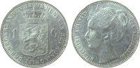 1 Gulden 1898 Niederlande Ag Wilhelmina I, Schulman 830, kleiner Randst... 185,00 EUR  zzgl. 6,00 EUR Versand