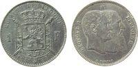 1 Franc 1880 Belgien Ag Leopold II, 50 Jahre Staatsgründung ss+  33,50 EUR  zzgl. 3,95 EUR Versand