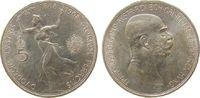 5 Kronen 1908 Österreich Ag Franz Joseph I, Ruhmesgöttin, J397 vz+  61,50 EUR  zzgl. 6,00 EUR Versand