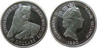 10 Dollar 1990 Cook Inseln Ag Tiger, minimale Handlingsmarken pp  10,00 EUR  zzgl. 3,95 EUR Versand