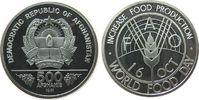 500 Afghani 1981 Afghanistan Ag FAO, etwas angelaufen pp  15,00 EUR  zzgl. 3,95 EUR Versand