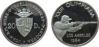 20 Deniers 1984 Andorra Ag Olympiade Gewehrschütze, etwas berieben, etw... 15,00 EUR  zzgl. 3,95 EUR Versand