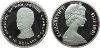 10 Dollar 1981 Fidschi Inseln Ag Hochzeit Charles u. Diana, zaponniert,... 25,00 EUR  zzgl. 3,95 EUR Versand