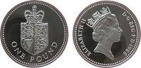 1 Pfund 1988 Großbritannien Ag Elisabeth II, Wappen pp  35,00 EUR  zzgl. 3,95 EUR Versand