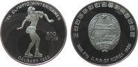 500 Won 1989 Korea Nord Ag Olympiade Eiskunstlauf, minimal berieben pp  33,50 EUR  zzgl. 3,95 EUR Versand