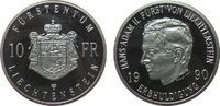 10 Franc 1990 Liechtenstein Ag Hans-Adam II, Erbhuldigung, minimal flec... 35,00 EUR  zzgl. 3,95 EUR Versand