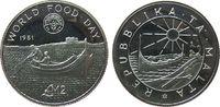 2 Pound 1981 Malta Ag WFD- Fischerboot, minimal berieben pp  25,00 EUR  zzgl. 3,95 EUR Versand
