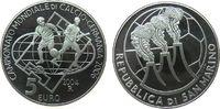 5 2004 San Marino Ag Fußball WM Deutschland, minimale Handlingsmarken pp  19,50 EUR  zzgl. 3,95 EUR Versand