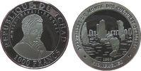 1000 Francs 1999 Tschad Ag Stonehenge pp  20,00 EUR  zzgl. 3,95 EUR Versand