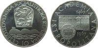 10 Korun 1967 Tschechoslowakei Ag Universität, etwas berieben pp  20,00 EUR  zzgl. 3,95 EUR Versand