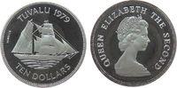10 Dollar 1979 Tuvalu Ag Brigantine Rebecca, etwas angelaufen, minimal ... 30,00 EUR  zzgl. 3,95 EUR Versand