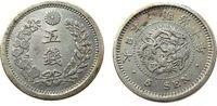 5 Sen 1877 Japan Ag Mutsuhito (1867-1912), Typ: I ss-vz  56,50 EUR  zzgl. 6,00 EUR Versand