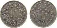 10 Rappen 1876 Schweiz Billon kleiner Schrötlingsfehler ss  39,50 EUR  zzgl. 3,95 EUR Versand
