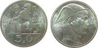 50 Francs 1948 Belgien Ag Leopold III (1934-1950), Belgie vz  11,50 EUR  zzgl. 3,95 EUR Versand