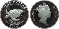 1 Dollar 1986 Bermuda Ag Wasserschildkröte pp  25,00 EUR  zzgl. 3,95 EUR Versand