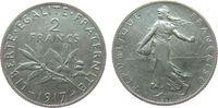 2 Francs 1917 Frankreich Ag Semeuse, Gad. 532 ss  6,50 EUR  zzgl. 3,95 EUR Versand