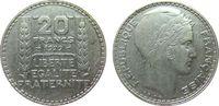 20 Francs 1929 Frankreich Ag Turin ss  15,00 EUR  zzgl. 3,95 EUR Versand