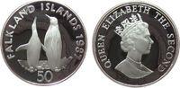 50 Pence 1987 Falkland Inseln Ag WWF, Pinguine pp  21,50 EUR  zzgl. 3,95 EUR Versand