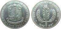 1 Peso 1967 Philippinen Ag Schlacht auf der Halbinsel Bataan vz-unc  20,00 EUR  zzgl. 3,95 EUR Versand