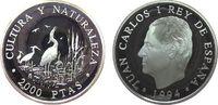 2000 Pesetas 1994 Spanien Ag Seidenreiher pp  27,50 EUR  zzgl. 3,95 EUR Versand