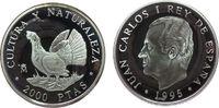 2000 Pesetas 1995 Spanien Ag Auerhahn pp  27,50 EUR  zzgl. 3,95 EUR Versand