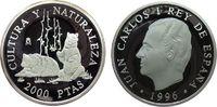 2000 Pesetas 1996 Spanien Ag Bären pp  27,50 EUR  zzgl. 3,95 EUR Versand