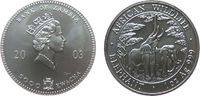 5000 Kwacha 2003 Zambia Ag Elefanten, etwas fleckig unz  70,00 EUR  zzgl. 6,00 EUR Versand