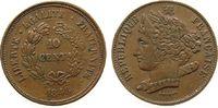 10 Centimes 1848 Frankreich Bronze Domard - Essai / Probe, ca. 30,5 MM ss  84,00 EUR  zzgl. 6,00 EUR Versand