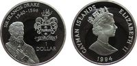 1 Dollar 1994 Kaiman Inseln Ag Sir Francis Drake pp  30,00 EUR  zzgl. 3,95 EUR Versand