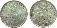 1 Dinero 1898 Peru Ag sitzende Freiheit unz  15,00 EUR  zzgl. 3,95 EUR Versand