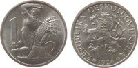 1 Koruna 1924 Tschechoslowakei AlBr Frau mit Ähren vz-unc  5,00 EUR  zzgl. 3,95 EUR Versand