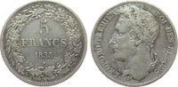 5 Francs 1833 Belgien Ag Leopold I, Fassungsspuren (?) ss  85,00 EUR  zzgl. 6,00 EUR Versand
