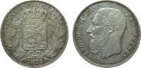 5 Francs 1873 Belgien Ag Leopold II, winzige Randfehler vz  45,00 EUR  zzgl. 3,95 EUR Versand