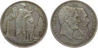 5 Francs 1880 Belgien Ag Leopold II, 50 Jahre Staatsgründung ss+  150,00 EUR  zzgl. 6,00 EUR Versand