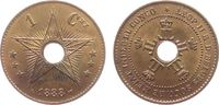 1 Centime 1888 Belgisch Kongo Ku Leopold II stgl-  35,00 EUR  zzgl. 3,95 EUR Versand