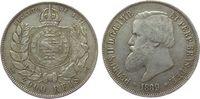 2000 Reis 1889 Brasilien Ag Petro II ss  35,00 EUR  zzgl. 3,95 EUR Versand