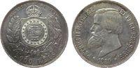 2000 Reis 1889 Brasilien Ag Petro II ss+  50,00 EUR  zzgl. 3,95 EUR Versand
